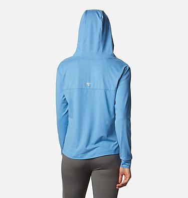 Women's PFG Slack Water™ Knit Hoodie Slack Water™ Knit Hoodie   463   L, Azure Blue Heather, back