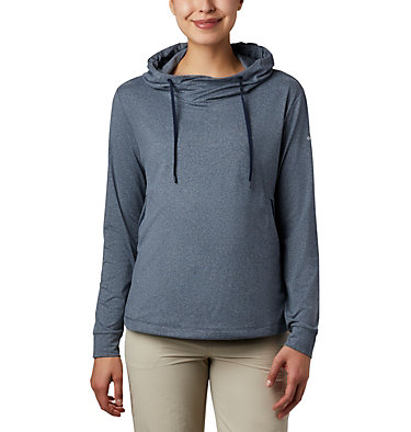 Women's PFG Slack Water™ Knit Hoodie Slack Water™ Knit Hoodie   463   L, Collegiate Navy Heather, front