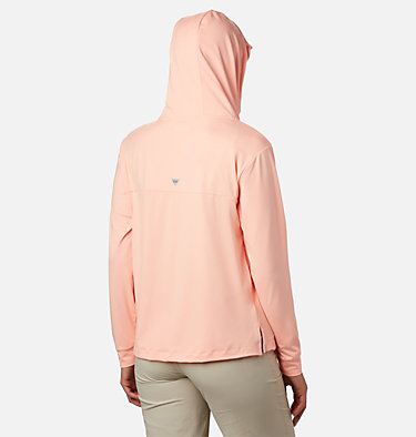 Women's PFG Slack Water™ Knit Hoodie Slack Water™ Knit Hoodie   463   L, Tiki Pink Heather, back