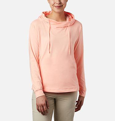 Women's PFG Slack Water™ Knit Hoodie Slack Water™ Knit Hoodie   463   L, Tiki Pink Heather, front