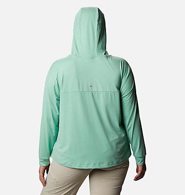 Women's PFG Slack Water™ Knit Hoodie - Plus Size Slack Water™ Knit Hoodie | 463 | 1X, Kelp Heather, back