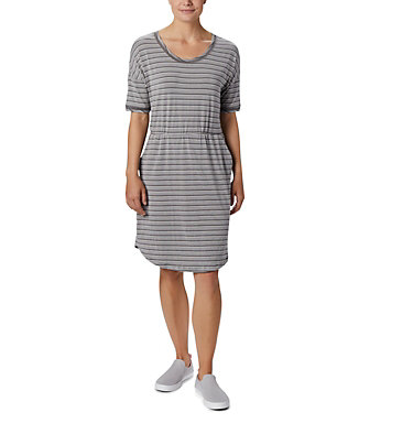 Robe en tricot PFG Slack Water™ pour femme Slack Water™ Knit Dress | 010 | M, City Grey Stripe, front