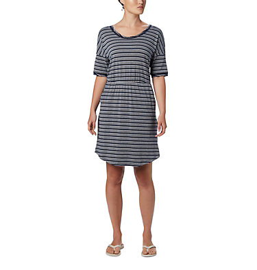 Robe en tricot PFG Slack Water™ pour femme Slack Water™ Knit Dress | 010 | M, Collegiate Navy Stripe, front