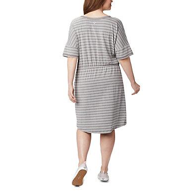 Women's PFG Slack Water™ Knit Dress – Plus Size Slack Water™ Knit Dress | 010 | 1X, City Grey Stripe, back
