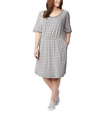 Women's PFG Slack Water™ Knit Dress – Plus Size Slack Water™ Knit Dress | 010 | 1X, City Grey Stripe, front