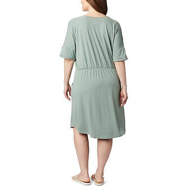 Women's PFG Slack Water™ Knit Dress – Plus Size Slack Water™ Knit Dress | 010 | 1X, Light Lichen, back