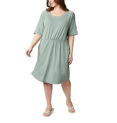 Women's PFG Slack Water™ Knit Dress – Plus Size Slack Water™ Knit Dress | 010 | 1X, Light Lichen, front