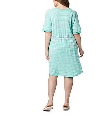 Women's PFG Slack Water™ Knit Dress – Plus Size Slack Water™ Knit Dress | 010 | 1X, Dolphin Stripe, back
