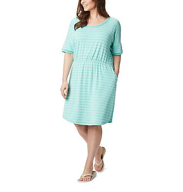 Women's PFG Slack Water™ Knit Dress – Plus Size Slack Water™ Knit Dress | 010 | 1X, Dolphin Stripe, front