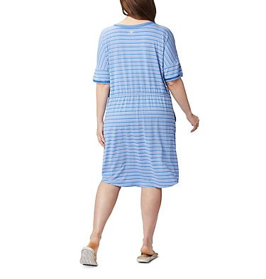 Women's PFG Slack Water™ Knit Dress – Plus Size Slack Water™ Knit Dress | 010 | 1X, Stormy Blue Stripe, back