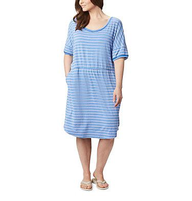 Women's PFG Slack Water™ Knit Dress – Plus Size Slack Water™ Knit Dress | 010 | 1X, Stormy Blue Stripe, front