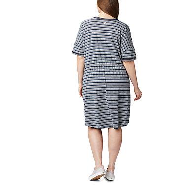 Women's PFG Slack Water™ Knit Dress – Plus Size Slack Water™ Knit Dress | 010 | 1X, Collegiate Navy Stripe, back