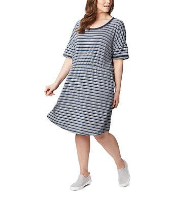 Women's PFG Slack Water™ Knit Dress – Plus Size Slack Water™ Knit Dress | 010 | 1X, Collegiate Navy Stripe, front