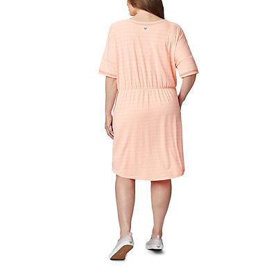 Women's PFG Slack Water™ Knit Dress – Plus Size Slack Water™ Knit Dress | 010 | 1X, Tiki Pink Stripe, back