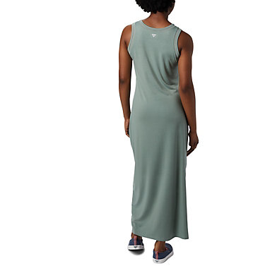 Women's PFG Slack Water™ Knit Maxi Dress Slack Water™ Knit Maxi Dress | 463 | L, Light Lichen, back