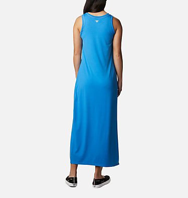 Women's PFG Slack Water™ Knit Maxi Dress Slack Water™ Knit Maxi Dress | 463 | L, Azure Blue, back