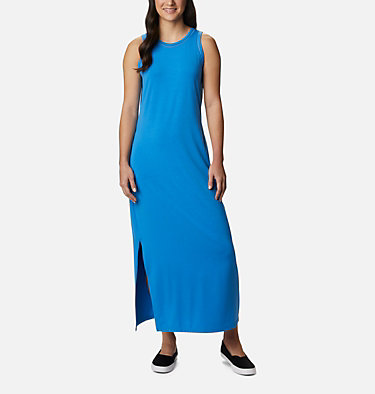 Women's PFG Slack Water™ Knit Maxi Dress Slack Water™ Knit Maxi Dress | 463 | L, Azure Blue, front