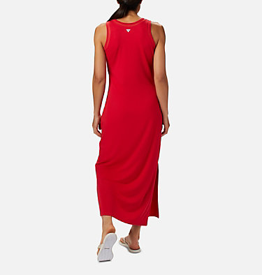 Women's PFG Slack Water™ Knit Maxi Dress Slack Water™ Knit Maxi Dress | 463 | L, Red Lily, back