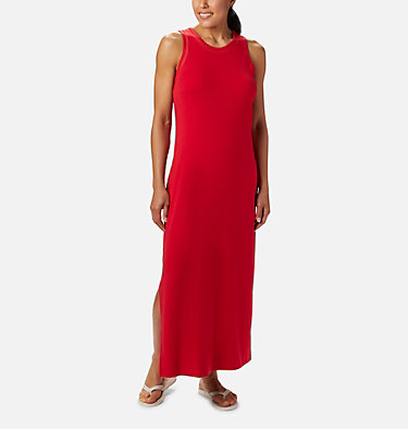Women's PFG Slack Water™ Knit Maxi Dress Slack Water™ Knit Maxi Dress | 463 | L, Red Lily, front