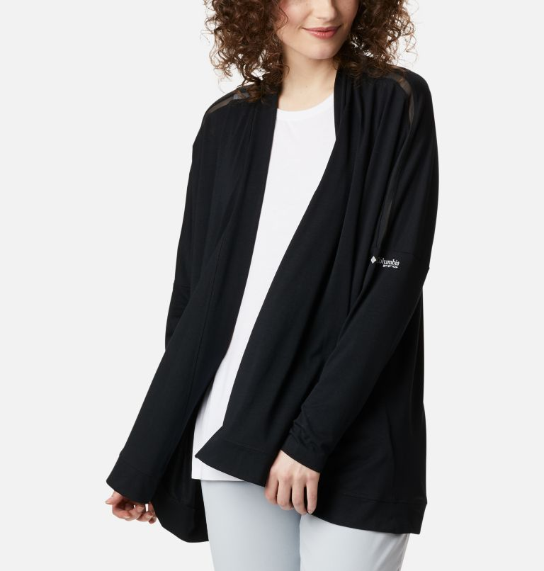 Slack Water™ Knit Cover Up Wrap   010   S Women's PFG Slack Water™ Knit Cover Up Wrap, Black, front
