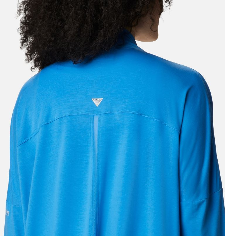 Slack Water™ Knit Cover Up Wrap | 463 | S Women's PFG Slack Water™ Knit Cover Up Wrap, Azure Blue, a2