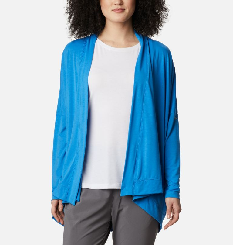 Slack Water™ Knit Cover Up Wrap | 463 | S Women's PFG Slack Water™ Knit Cover Up Wrap, Azure Blue, front