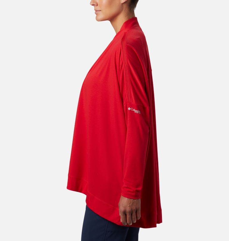 Slack Water™ Knit Cover Up Wrap | 658 | M Women's PFG Slack Water™ Knit Cover Up Wrap, Red Lily, a1