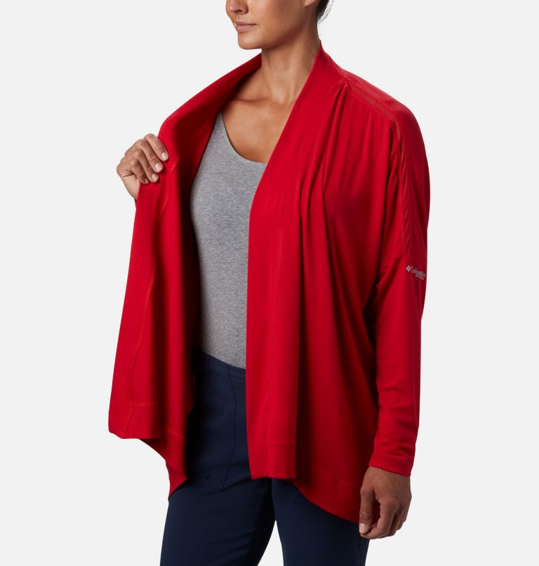 Slack Water™ Knit Cover Up Wrap | 658 | S Women's PFG Slack Water™ Knit Cover Up Wrap, Red Lily, a3