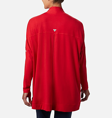Women's PFG Slack Water™ Knit Cover Up Wrap Slack Water™ Knit Cover Up Wrap | 658 | L, Red Lily, back