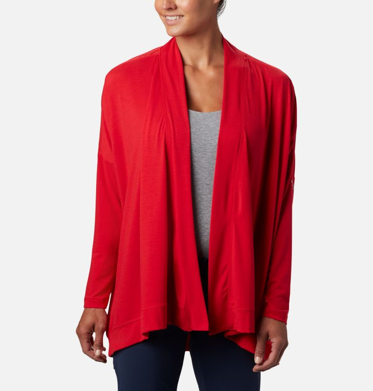 Slack Water™ Knit Cover Up Wrap | 658 | M Women's PFG Slack Water™ Knit Cover Up Wrap, Red Lily, front