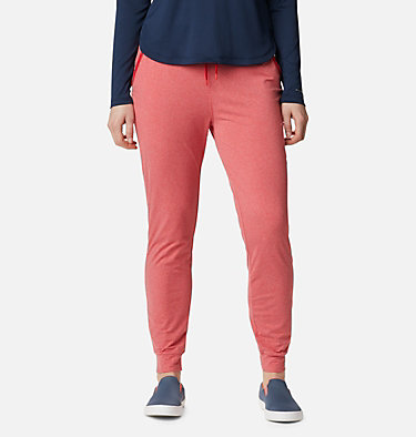 Women's PFG Slack Water™ Knit Joggers Slack Water™ Knit Jogger | 463 | L, Red Lily Heather, front