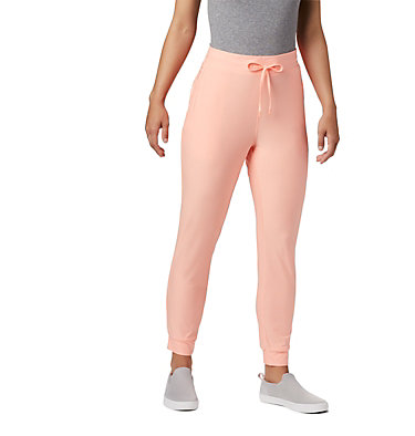 Women's PFG Slack Water™ Knit Joggers Slack Water™ Knit Jogger | 463 | L, Tiki Pink Heather, front