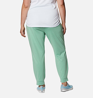 Women's PFG Slack Water™ Knit Joggers - Plus Size Slack Water™ Knit Jogger | 337 | 3X, Kelp Heather, back