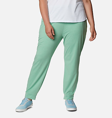 Women's PFG Slack Water™ Knit Joggers - Plus Size Slack Water™ Knit Jogger | 337 | 3X, Kelp Heather, front