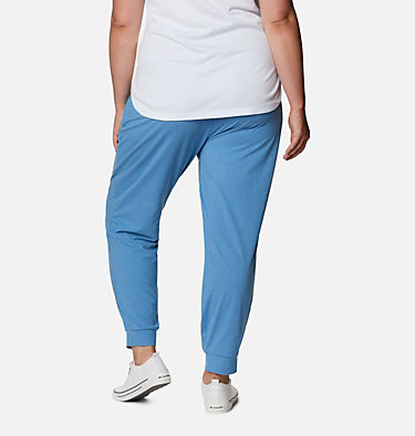 Women's PFG Slack Water™ Knit Joggers - Plus Size Slack Water™ Knit Jogger | 337 | 3X, Azure Blue Heather, back