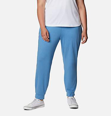 Women's PFG Slack Water™ Knit Joggers - Plus Size Slack Water™ Knit Jogger | 337 | 3X, Azure Blue Heather, front