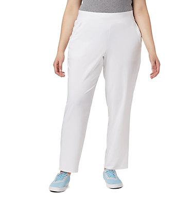 Women's PFG Slack Water™ Woven Pants - Plus Size Slack Water™ Woven Pant | 031 | 1X, White, front