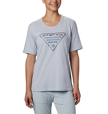Women's PFG™ Triangle T-Shirt W PFG™ Triangle Tee SS | 464 | M, Cirrus Grey, Stormy Blue, front