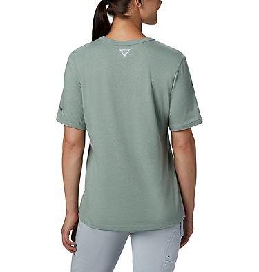 Women's PFG™ Triangle T-Shirt W PFG™ Triangle Tee SS | 305 | XS, Light Lichen, Tiki Pink, back