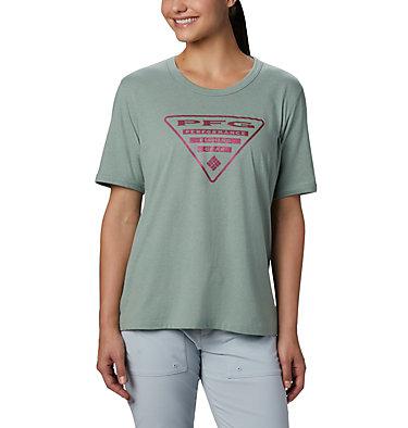Women's PFG™ Triangle T-Shirt W PFG™ Triangle Tee SS | 464 | M, Light Lichen, Tiki Pink, front