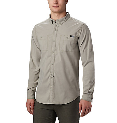 Men's Outdoor Elements™ Long Sleeve Chambray Shirt Outdoor Elements™ LS Chambray Shirt   365   M, Sage Chambray Oxford, front