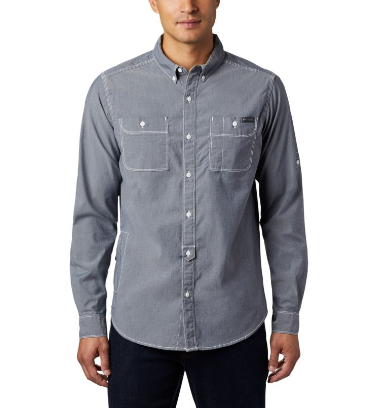 Men's Outdoor Elements™ Long Sleeve Chambray Shirt Men's Outdoor Elements™ Long Sleeve Chambray Shirt, front