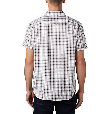 Men's Brentyn Trail™ Short Sleeve Seersucker Shirt – Big Brentyn Trail™ SS Seersucker Shirt | 427 | 1X, City Grey Gingham, back