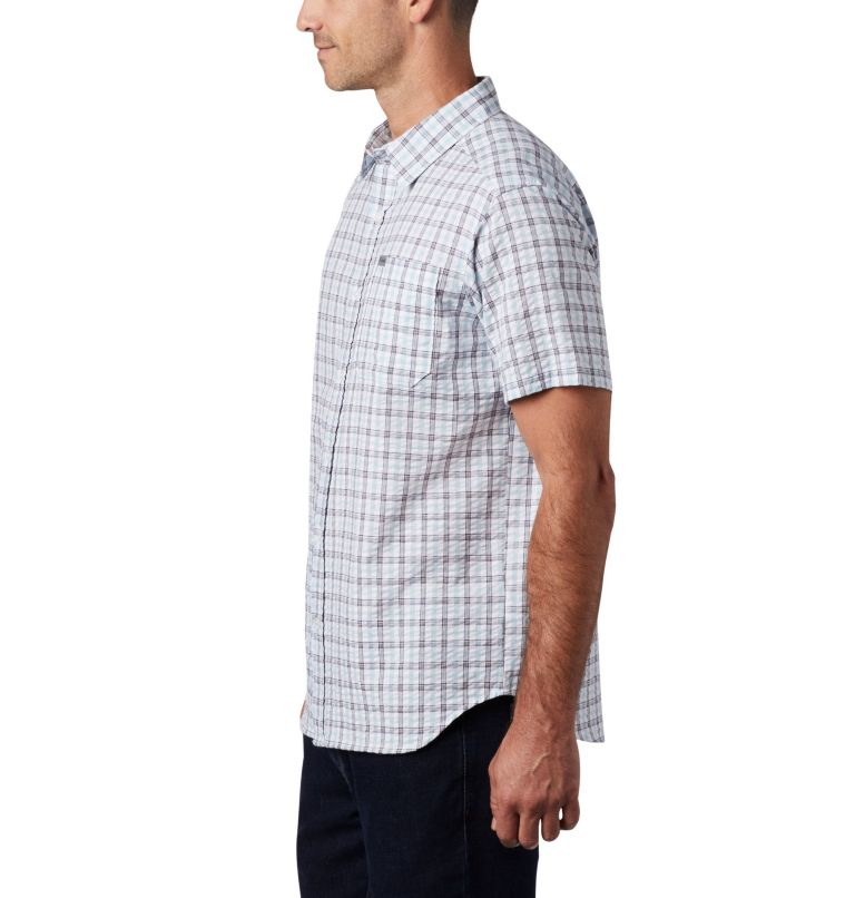 Brentyn Trail™ SS Seersucker Shirt | 427 | 5X Men's Brentyn Trail™ Short Sleeve Seersucker Shirt – Big, Sky Blue Gingham, a1