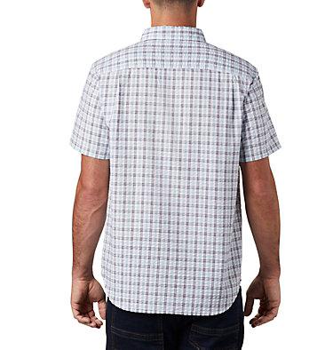 Men's Brentyn Trail™ Short Sleeve Seersucker Shirt – Big Brentyn Trail™ SS Seersucker Shirt | 427 | 1X, Sky Blue Gingham, back
