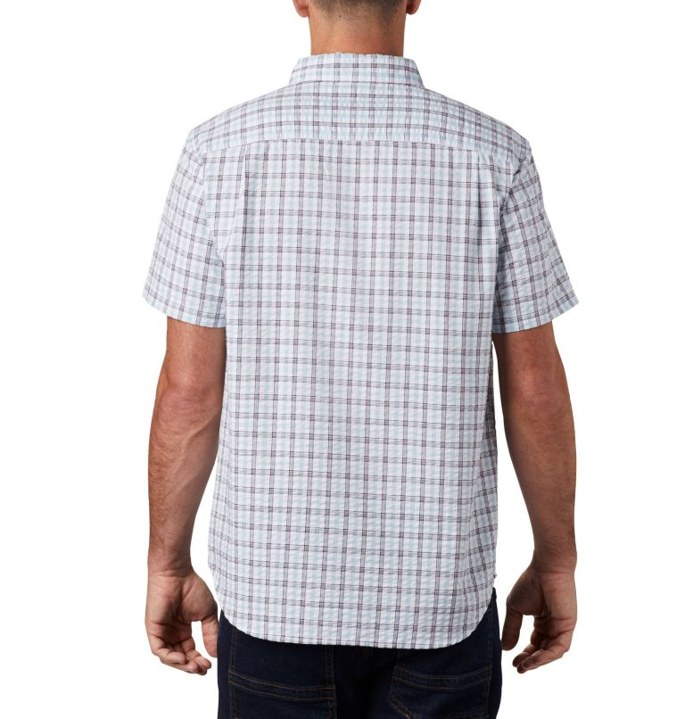 Brentyn Trail™ SS Seersucker Shirt | 427 | 5X Men's Brentyn Trail™ Short Sleeve Seersucker Shirt – Big, Sky Blue Gingham, back