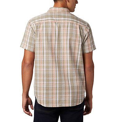 Men's Brentyn Trail™ Short Sleeve Seersucker Shirt – Big Brentyn Trail™ SS Seersucker Shirt | 427 | 1X, Light Coral Plaid, back