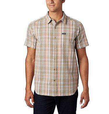 Men's Brentyn Trail™ Short Sleeve Seersucker Shirt – Big Brentyn Trail™ SS Seersucker Shirt | 427 | 1X, Light Coral Plaid, front