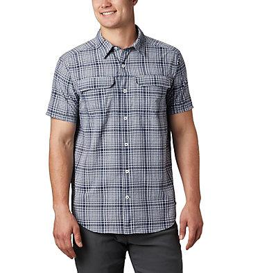 Chemise à manches courtes Silver Ridge™ en tissu gaufré pour homme Silver Ridge™ SS Seersucker Shirt | 478 | L, Collegiate Navy Grid Plaid, front