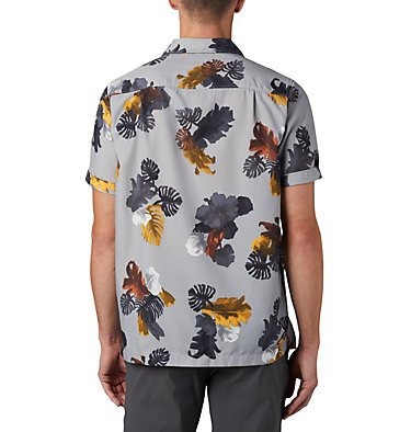 Men's Outdoor Elements™ Short Sleeve Print Shirt Outdoor Elements™ SS Print Shirt | 427 | L, Columbia Grey Tropical, back